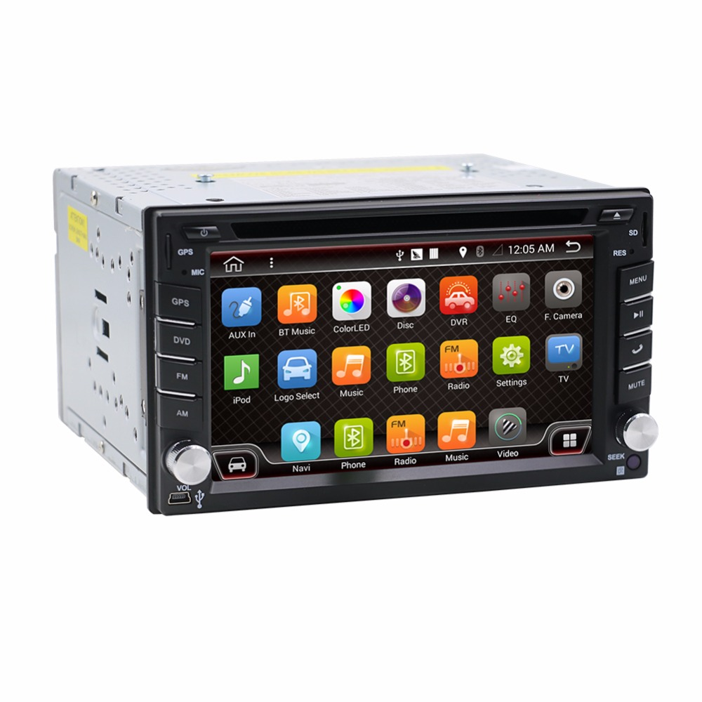 Universal 2 din Android Car DVD player GPS+Wifi+Bluetooth+Radio+1.2GB CPU+DDR3+Capacitive Touch Screen+wifi+car pc+audio