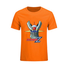 Interesting Mazinger Z T shirts men Anime old classic manga robot movie Blue T-Shirt Black Basic Tees shirt for boys