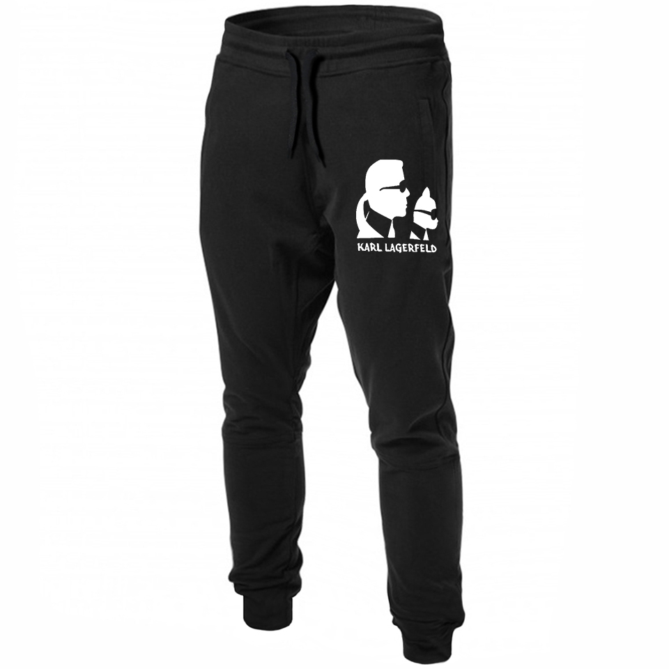 2019 Summer Karl Lagerfeld Sweatpants 100 Cotton Men Women Japanese Streetwear