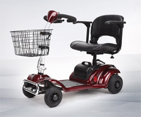 Mutifunctional Folding Adult Electric Scooter With Basket Four Wheels Citycoco