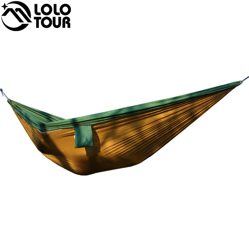 Ultra-Large 210T Hammock Hammock Double 2 Person Travel Camping - Mobiliário - Foto 5