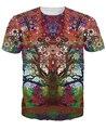 Viaje Árbol T-Shirt diseño 3d t shirt trippy colores brillantes sexy tee camiseta del verano las mujeres outwear manga corta camisetas tops