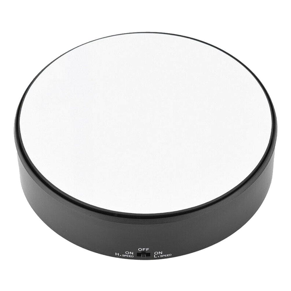 Rotating Display Stand Jewelry Holder Craft Watch Art Turntable Toy Model Mirror Glass Battery Operated 360 Swivel Professional