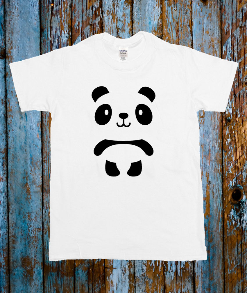 PANDA CUTE ANIMAL TEE CELEB T SHIRT BLOGGER TUMBLR CARTOON T-Shirt Men/Boy Short Sleeve Cool Tees