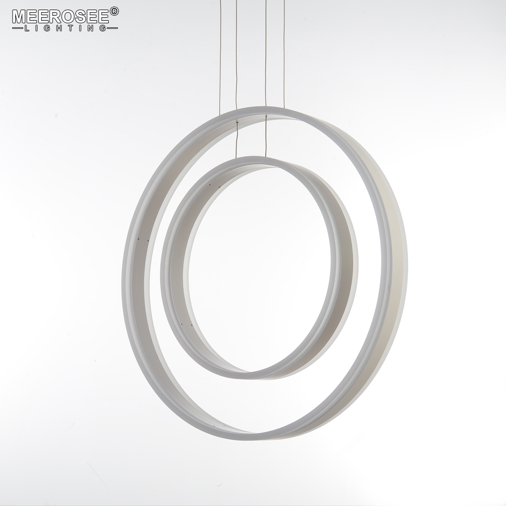 2018 Fashion Design Hanging Lights Lustre Modern Simple Acrylic Rings LED Pendant Luminaires for Coffee Shop Indoor Lighting