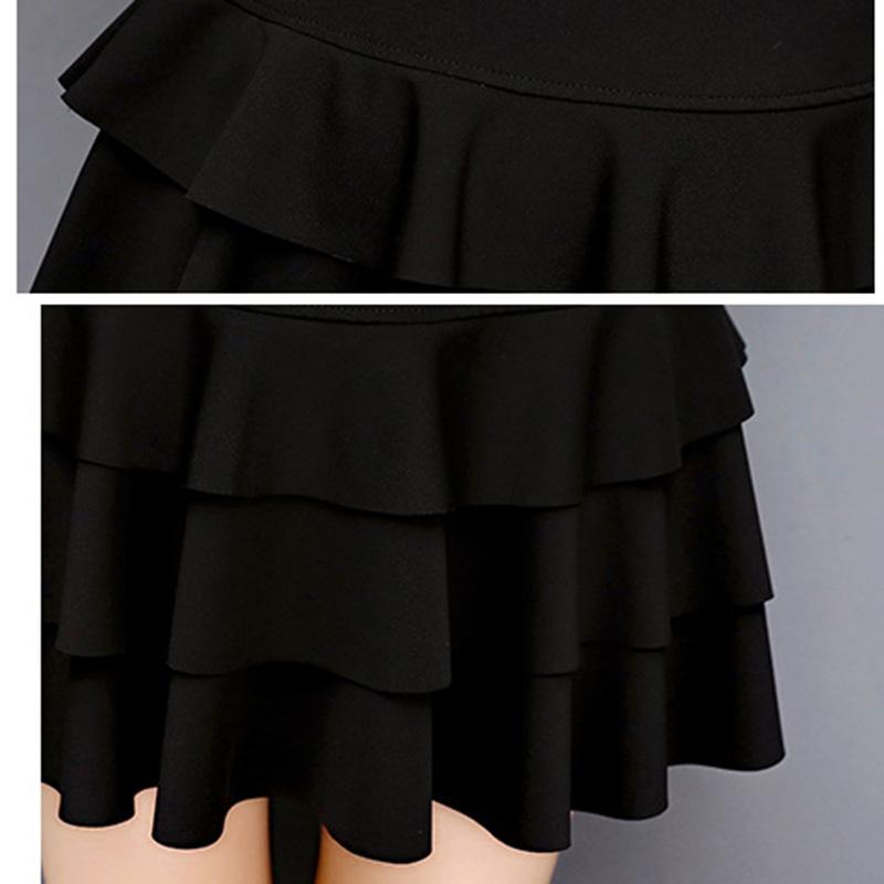 HTB1Y fXRXXXXXXMXFXXq6xXFXXXg - A-Line Style Girls Black Skirts PTC 160