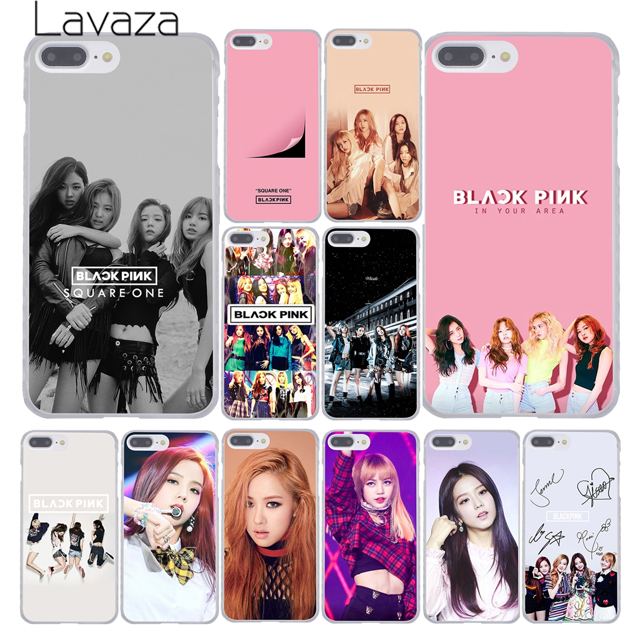 Lavaza BLACK PINK BLACKPINK Kpop Collage Phone Cover Case For Apple IPhone X XR XS Max 6 6S 7 8