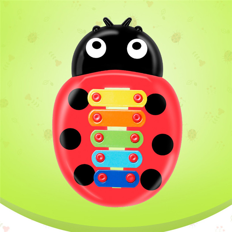 Education Toy Baby Kids Colorful Ladybird Model Xylophone Musical Toys Early Education Wisdom Development Toys Baby Toys JE15#F (3)