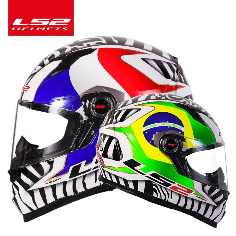 D'origine LS2 FF358 plein visage moto rcycle casque ls2 moto cross racing homme femme casco moto casque LS2 ECE approuvé pas de pompe - 6
