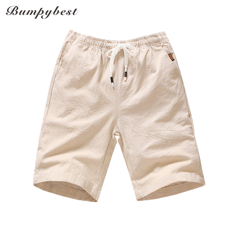 Men's Clothing Fashion Men Short Pants Solid Color Loose Casual Knee Length Pantsa Candy Color Cotton Linen Breathable Summer Board Shorts