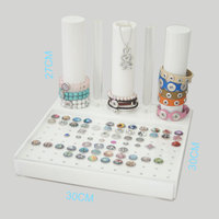 High End White Buttons Display For All Snaps And Snaps Jewelry As Snaps Bracelets Snaps Necklace