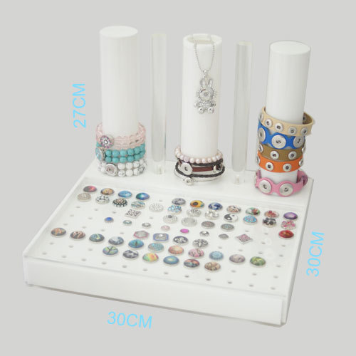 купить High-end white buttons display for all snaps and snaps jewelry as snaps bracelets snaps necklace for woman