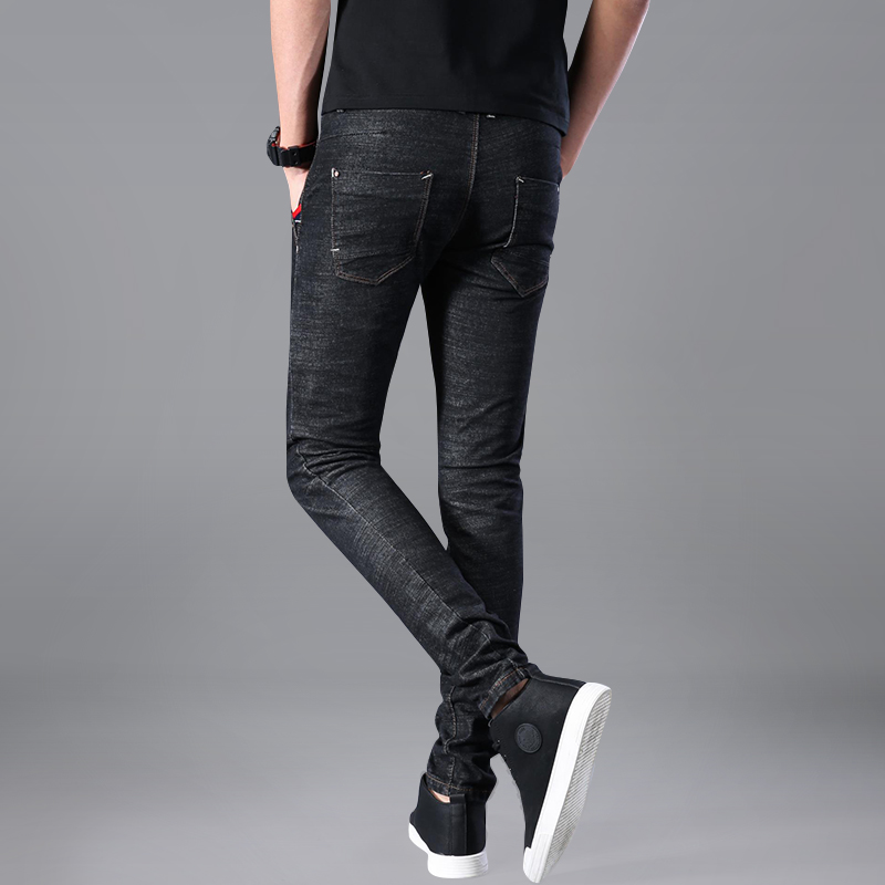 2018 Brand New Men Jeans Fashion Skinny Jeans Cotton Black Elastic Stretch Good Quality Jeans Homme Ripped Jeans Men 33