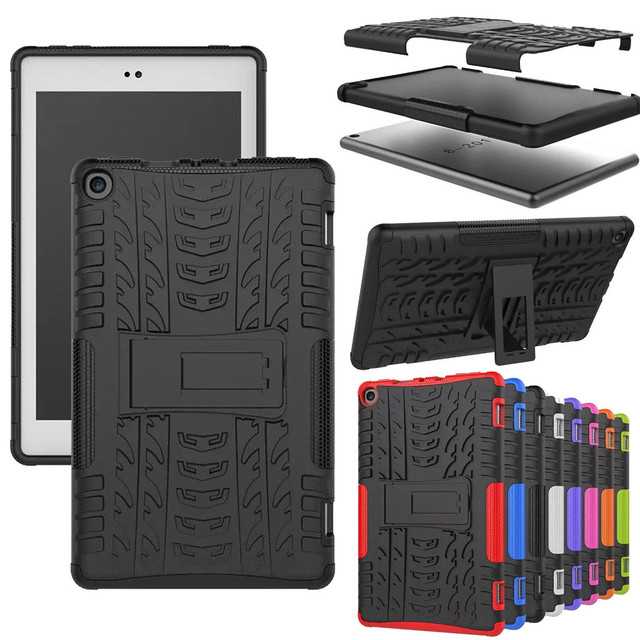 Smart Flip Capa Funda Case For Amazon Kindle Fire HD 8 2017/2018 Hybrid  Rubber Stand Case Cover 2019 High Quality-in Tablets & e-Books Case from