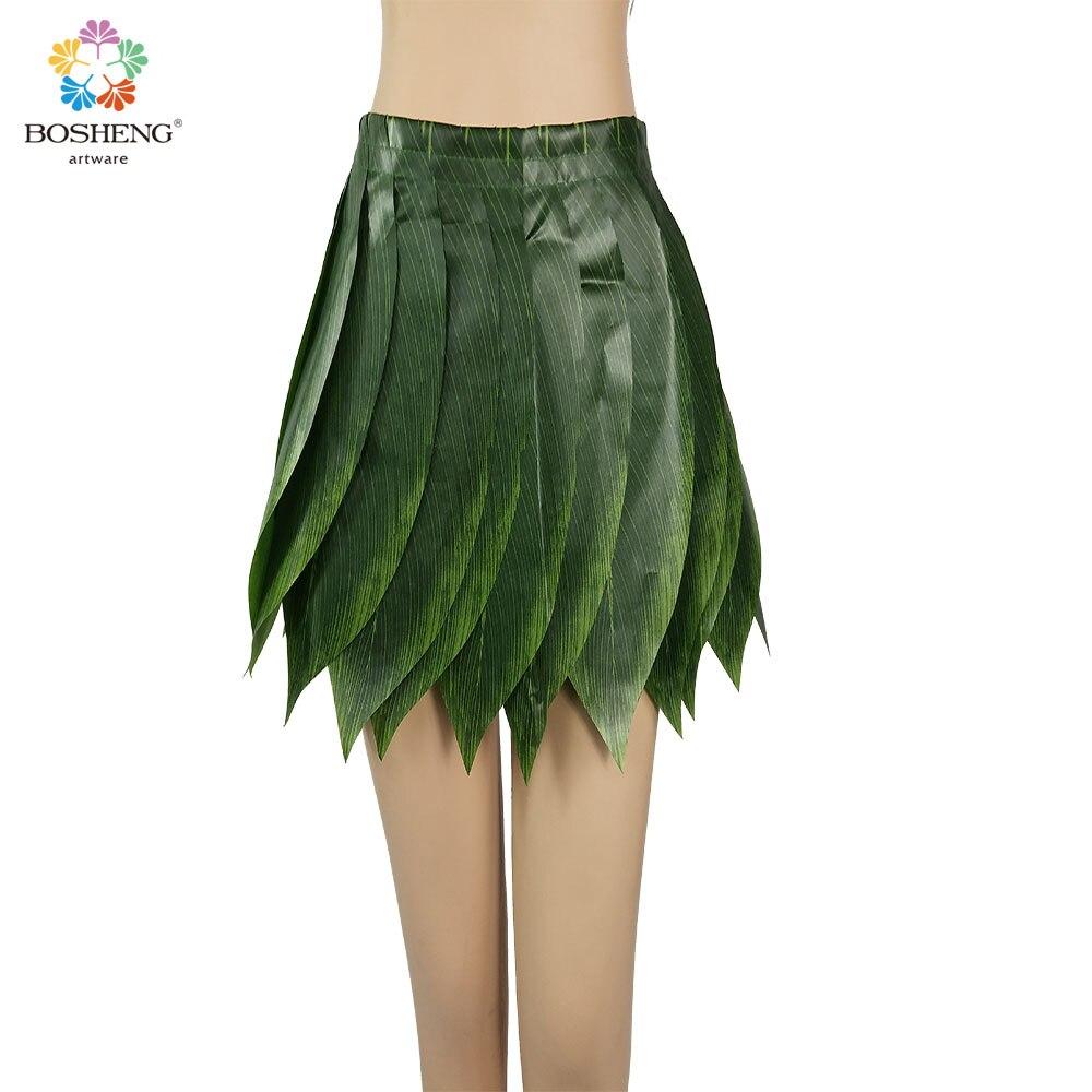 Bosheng newly Green 35x52cm Fabric hula dance kid skirts hawaiia ...