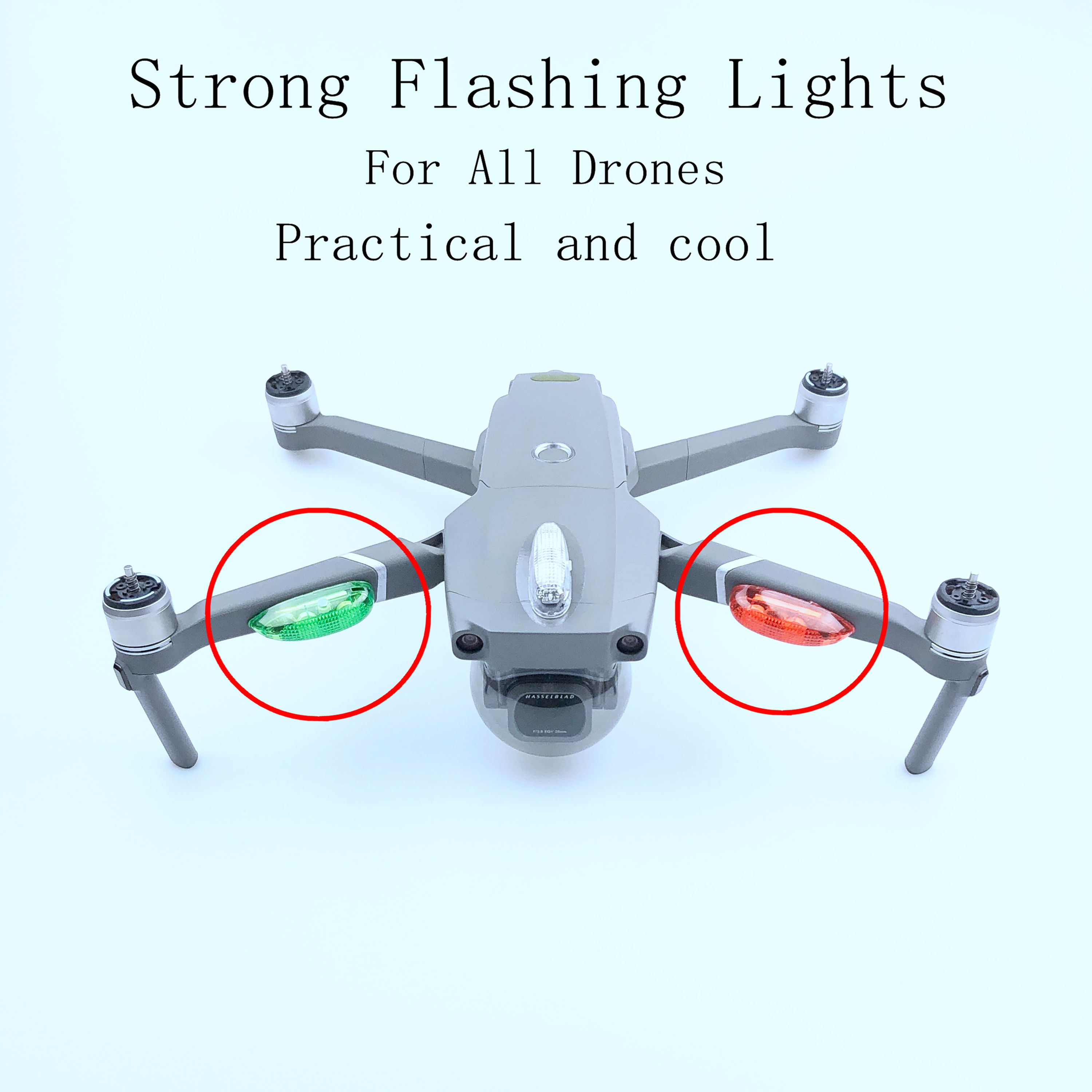 Universal Night Flashing Strong Bright Wireless Long Distance Lamp Colorful LED Lights for DJI Mavic Pro Spark Phantom Inspire in Drone Cables from Consumer Electronics
