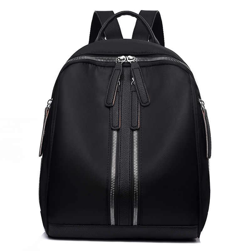 女性ファッション女性バックパックオックスフォード十代の少女カジュアル大容量ショルダーバッグ無地ストリートランドセル高品質