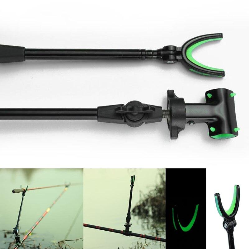 Telescopic Fishing Rod Holder Luminous Silicone Non-Slip Pole Rest Bracket Mount Fishing Tackle Nylon Fishing Rod Holder