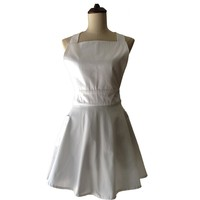 New Plain White Cotton Woman Kitchen Apron Cooking Waitress Salon Hairdresser Avental De Cozinha Divertido Pinafore