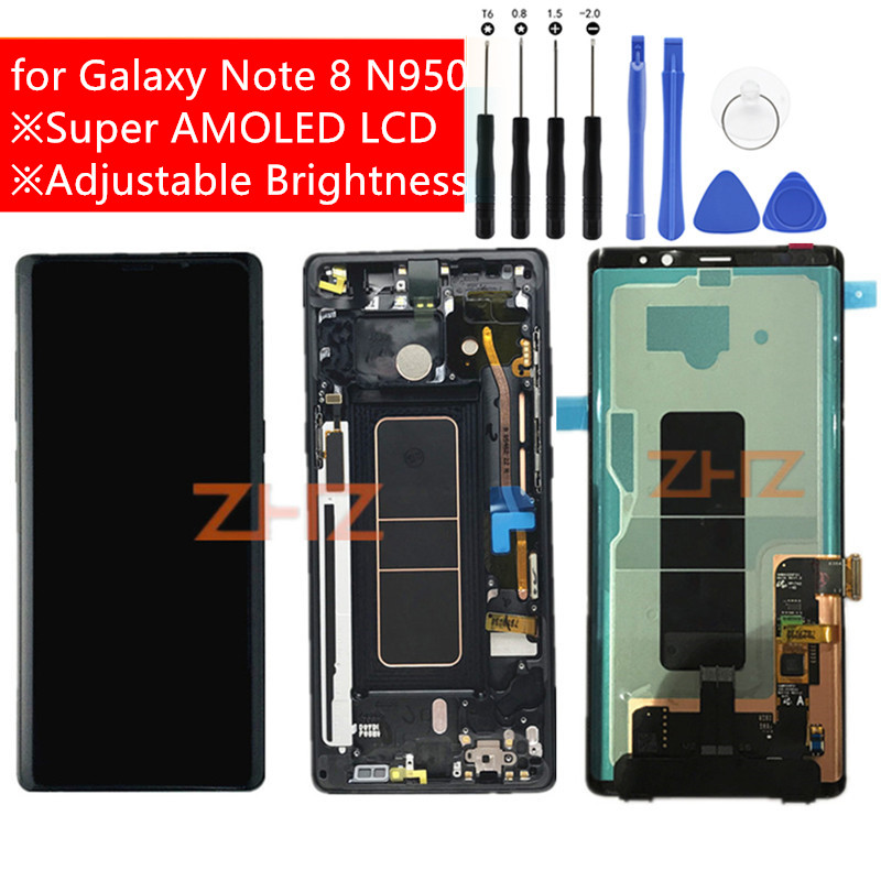 Super AMOLED for Samsung Galaxy Note 8 N950F LCD Display with Frame Touch Screen Digitizer LCD