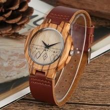 цена Wooden Wristwatch Lightweight Women Bamboo Watch Quartz Sport Natural Handmade Leather Band Ladies Timepieces Clock  reloj mujer онлайн в 2017 году
