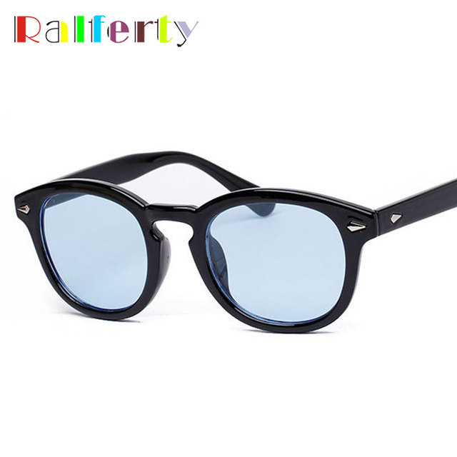 Ralferty Vintage Johnny Depp Sun Glasses Frame Retro Brand Oliver Peoples  Sunglasses Men Women Transparent Goggles f2f832fd317f