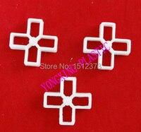 500pcs Bag 10mm Plastic Cross Tice Spacer Tracker Locating Ceramic Cross White Color Locate The Ceramic