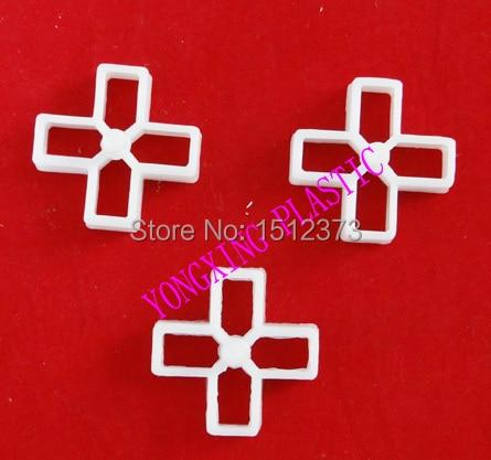 500pcs/bag 10mm Plastic Cross/ Tice Spacer/tracker/locating/ceramic Cross  White Color Locate The Ceramic Tile