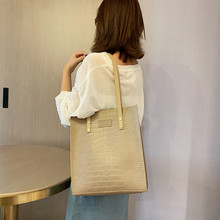 Summer Fashion Alligator Women Handbags Large Capacity Female Messenger Shoulder Bag Tote High Quality Leather Casual Totes Bags new women tote bag high capacity female casual fashion ol business cattle split leather messenger handbags black brown gray