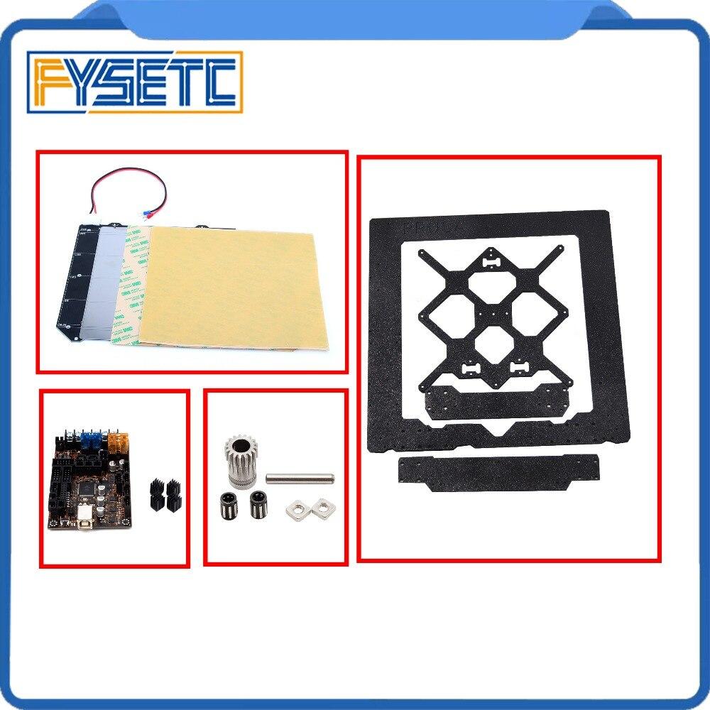 Клон Prusa i3 MK3 Магнитная Тепло Кровать MK52 + Сталь лист + 2X пей + EinsyRambo 1.1a доска + клонировано btech двойной Шестерни + рамка алюминиевого сплава