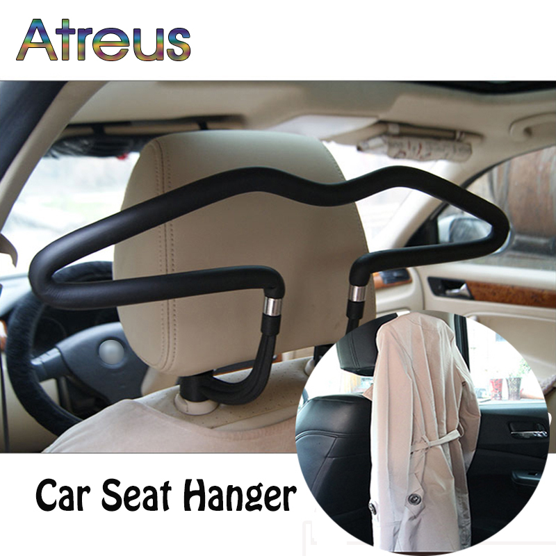 Atreus 1Pcs Car headrest stainless steel hanger for Nissan Juke X trail Qashqai Opel Astra J H G Insignia Kia RIO Ceed Sorento|hangers for|hanger stainless|hanger for car - title=