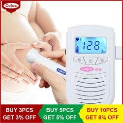 Cofoe Fetal Doppler Heartbeat Detector Portable Ultrasound Pregnant Baby Heart Rate Monitor LCD 3.0MHz Pocket Vascular Doppler