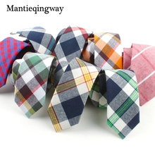 Mantieqingway Mens Cotton Tie Brand Jacquard Necktie Gravata Corbatas Ties for Men Formal Business Plaid Neck Tie Wedding Party