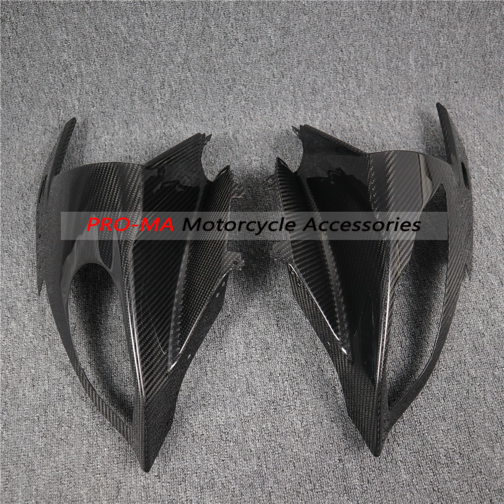 Motorcycle Front Fairing(Upper Fairing) in Carbon Fiber For BMW S Series S1000RR 2015+ Twill glossy weave image
