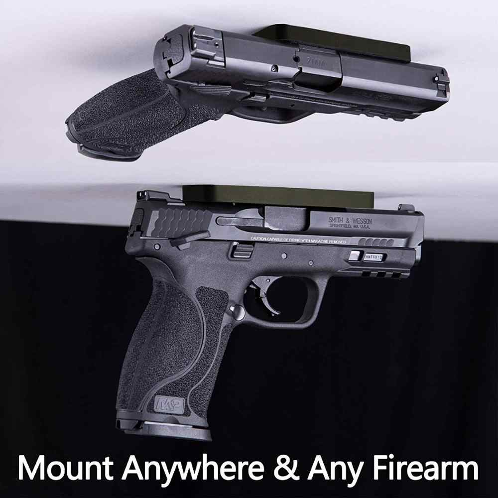 Gizli silah mesnedi manyetik tabanca tutucu tabanca Revolver araba kamyon koltuğu yatak başucu Glock Taurus G2C 1911 dergisi