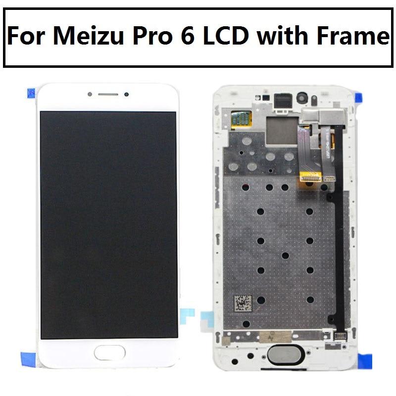 """imágenes para 5.2 """"Amoled Para Meizu Pro 6 Pantalla Lcd con Digitalizador Táctil de cristal de repuesto de montaje Bastidor"""