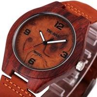 2017 Fashion Unisex Wooden Quartz Wrist Watch Imported Japan Movement Nubuck Genuine Leather Strap Top Brand