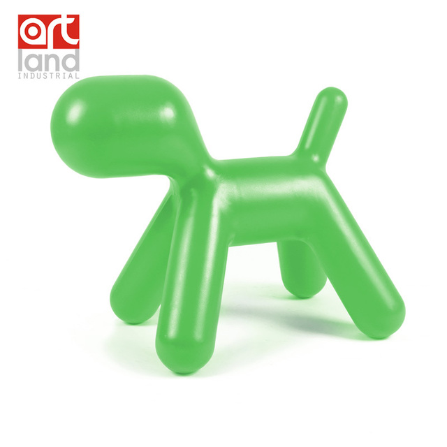 Top quality children chair molded plastic chair in dog shape kids