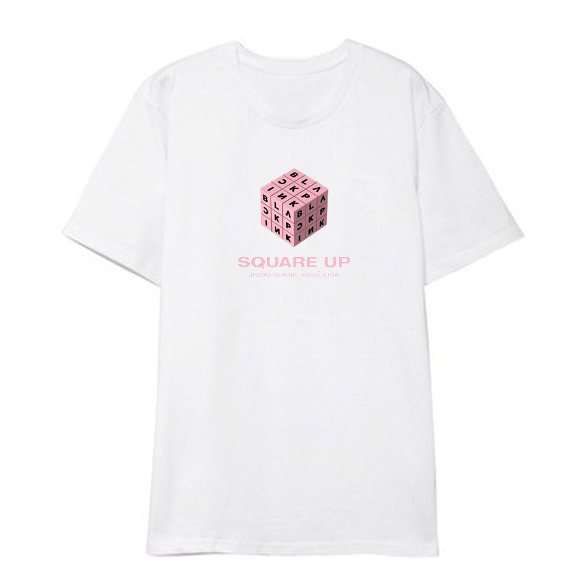 Korea BLACKPINK SQUARE UP men T-Shirt Unisex Cotton Short Sleeve Fans causal top tshirt Gift