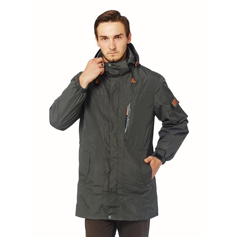 Outdoor Windproof Keep Warm Long Pattern Jacket Men Waterproof Fleece Sports Jacket Skiing Climbing Thermal Soft shell Jacket