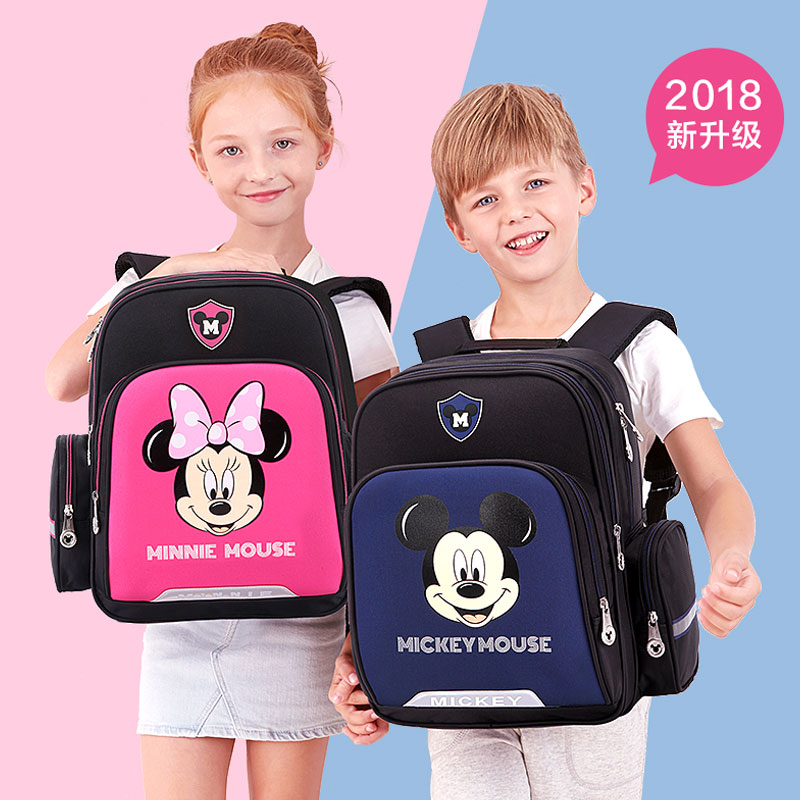 Micky souris sac à dos enfants sacs enfants sac à dos sacs d'école pour enfants élève élève de l'école primaire grad 1-3- 4 fardeau lutte contre la