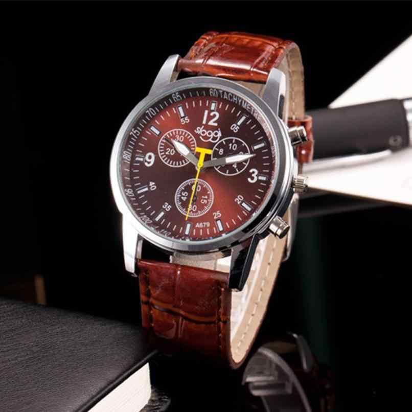 Relojes para hombre con diseño Retro xiniu, relojes de pulsera analógicos para hombre de piel sintética de cocodrilo de lujo Causal 2018