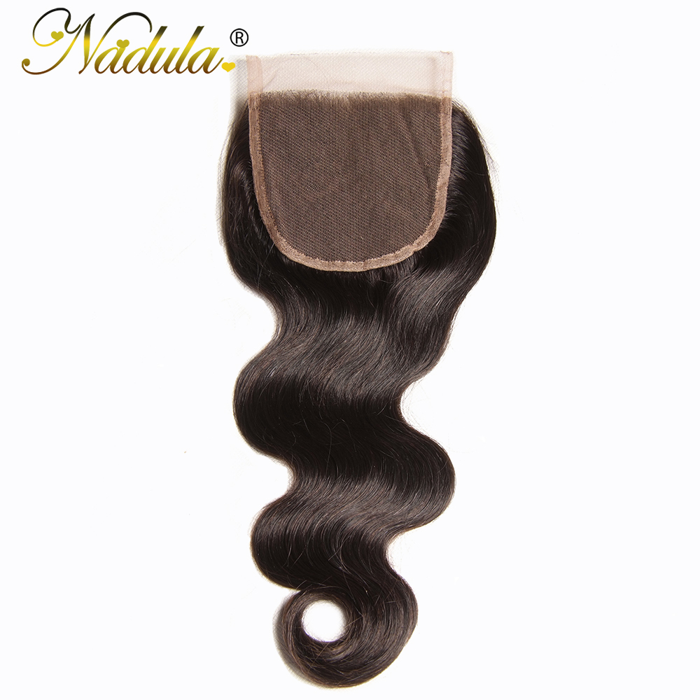 Nadula Hair 10 20inch Brazilian Body Wave Hair Lace Closure 4 4 Remy Human Hair Swiss