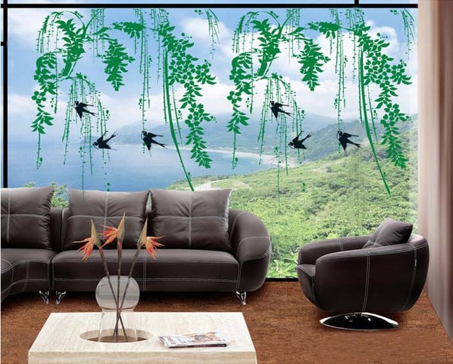 New Wall Art Home Decor/Window Wall Sticker/Wallpaper Decoration/Swallow  Decals Willow