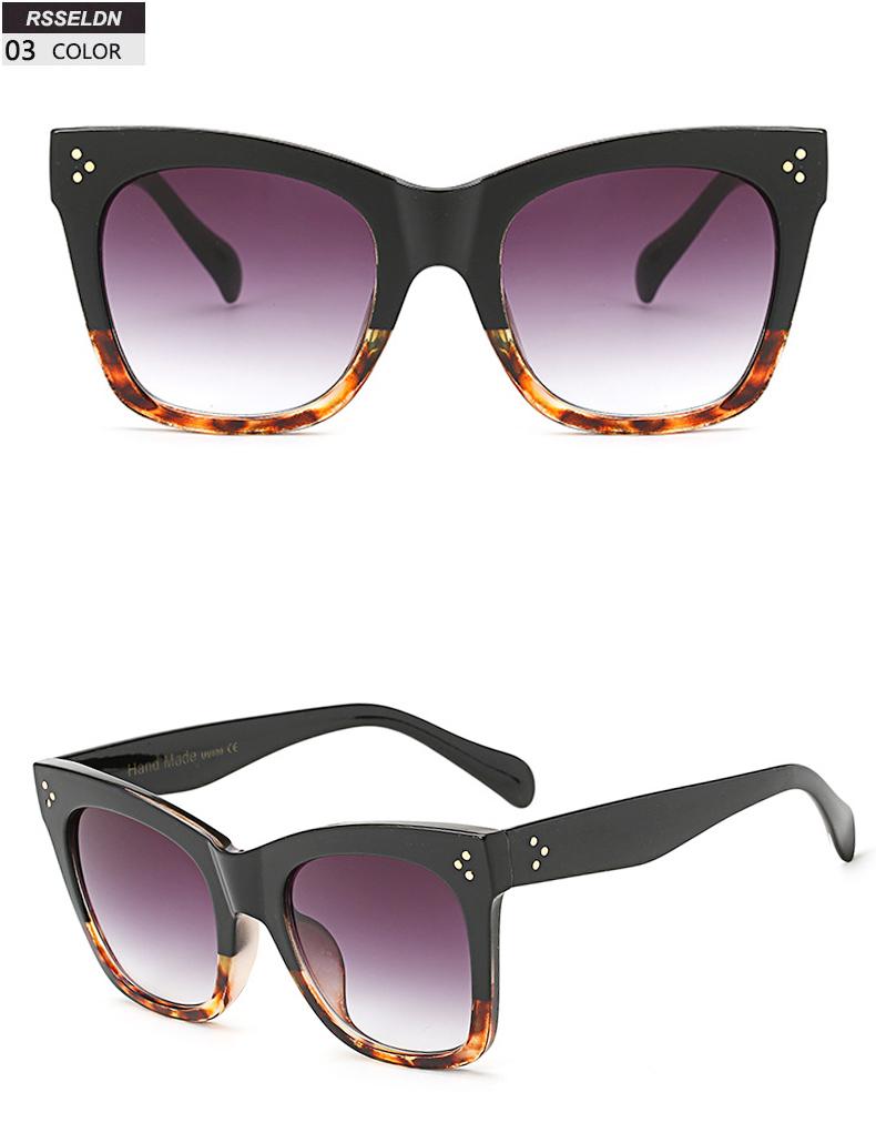 9595519c7 RSSELDN Vermelho Preto Praça de Grandes Dimensões Óculos De Sol Dos Homens  Novo 2019 One Piece UV400 Lente Grande Quadro óculos de Sol Para As Mulheres  de ...