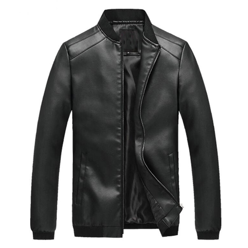 2016 Spring and Autumn Men's Leather Slim PU Jackets Male Jacket Autos Biker Overcoat Fashion Cool Mens Clothing Brand 4XL S1725
