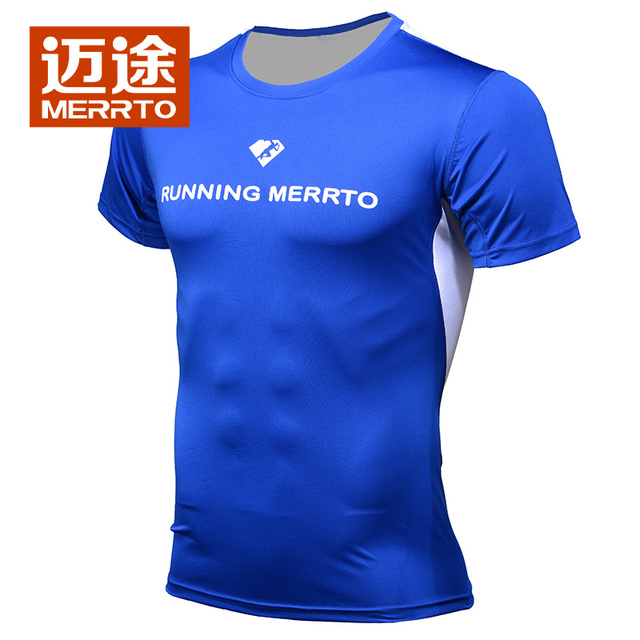 fcb33418eb60 Men Summer Short-sleeved Round Neck Outdoor Sports Couple Breathable  Perspiration Quick-drying T-shirt Women Speed Dry Clothes