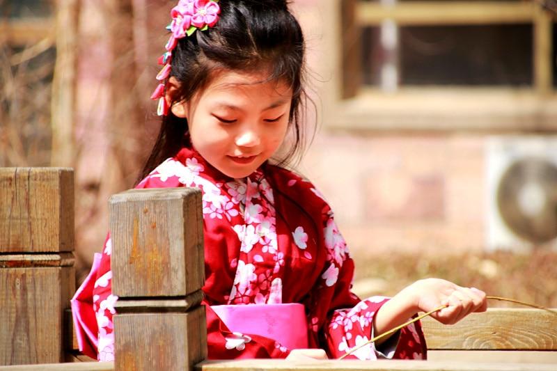 2018 winter japanese style baby girls kimono gown kid cotton yukata children stage performance dress child cosplay costumes kijo momiji cosplay onmyoji japanese maple leaves kimono cosplay costume with hair accessory