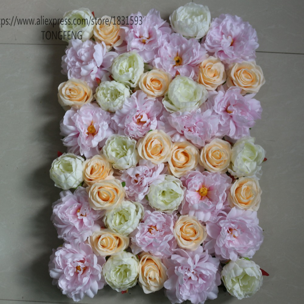 Ivory Whole Stage Or Background Wedding Flower Decoration