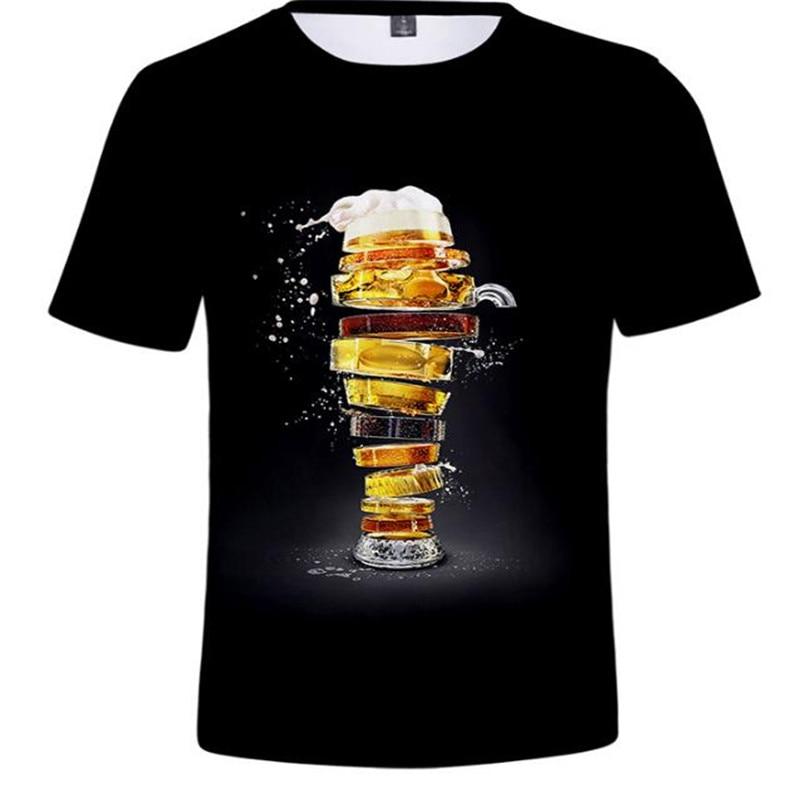 2019 New Summer Beer Full Fashion 3D Print Men T Shirt Novelty Funny Men Short Sleeve T-Shirt Causal Man T Shirt Unisex Tees Top